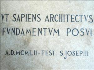 Istituto San Giuseppe La Salle Milano Anno 1952 Prima Pietra