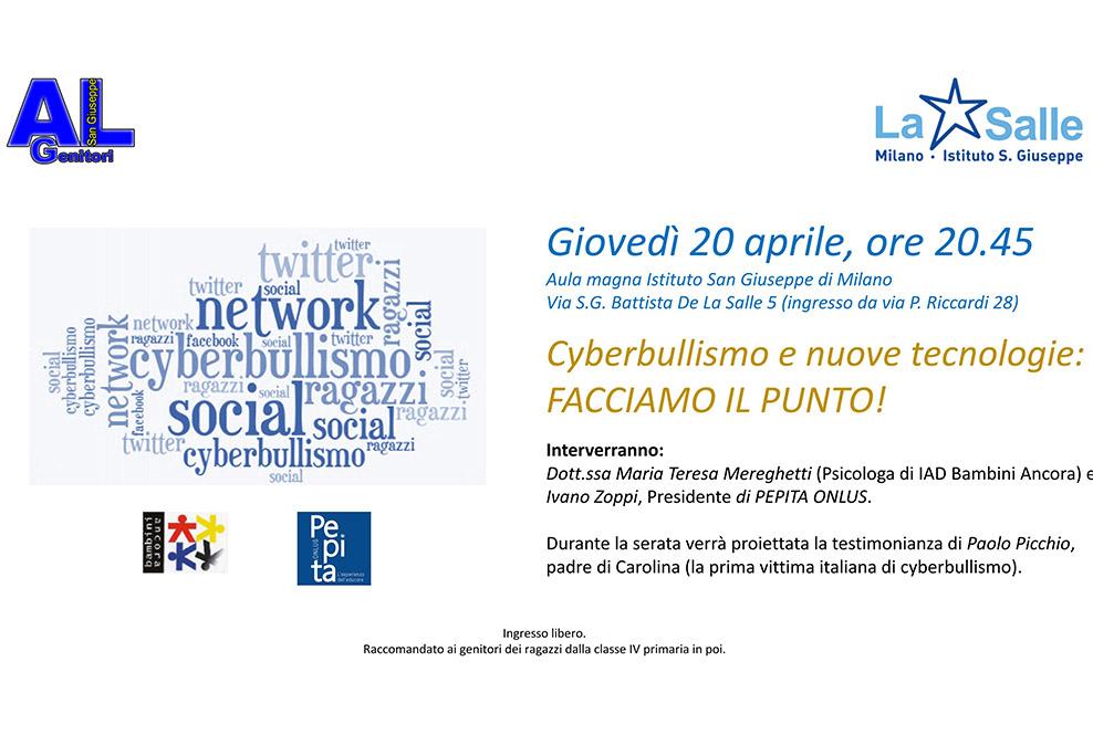 Istituto San Giuseppe La Salle Milano Conferenza Cyberbullismo 20 aprile 2017 Head