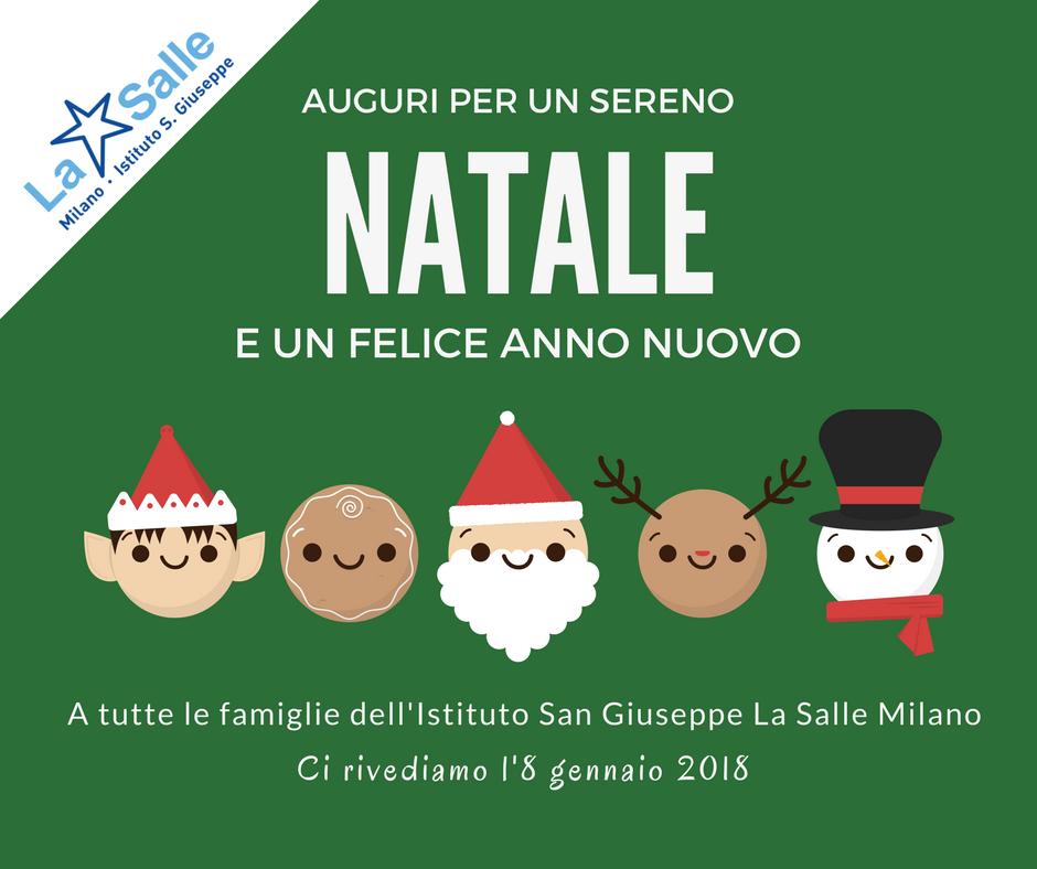 Istituto San Giuseppe La Salle Milano Biglietto Auguri Natale 2017