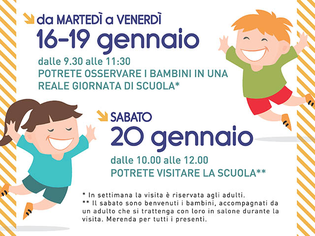 Istituto San Giuseppe La Salle Milano Open Week Scuola dell'Infanzia 2017-2018_News_2