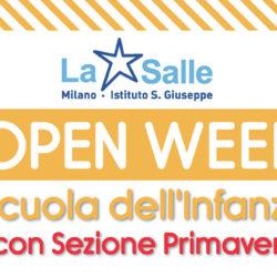 Istituto San Giuseppe La Salle Milano Open Week Scuola dell'Infanzia 2017-2018_News_Head