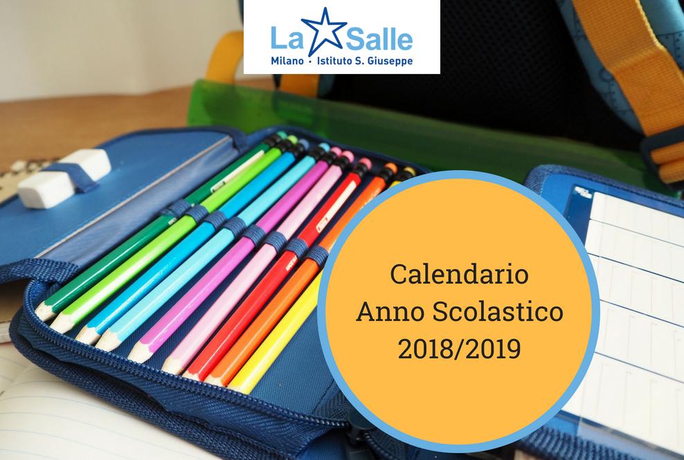 Istituto San Giuseppe La Salle Milano Calendario anno scolastico 2018 - 2019_3