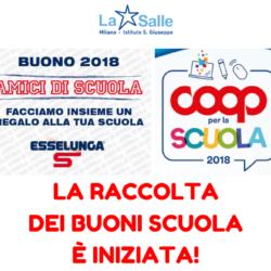 Istituto San Giuseppe La Salle Milano Raccolta Buoni Scuola Anno scolastico 2018-2019