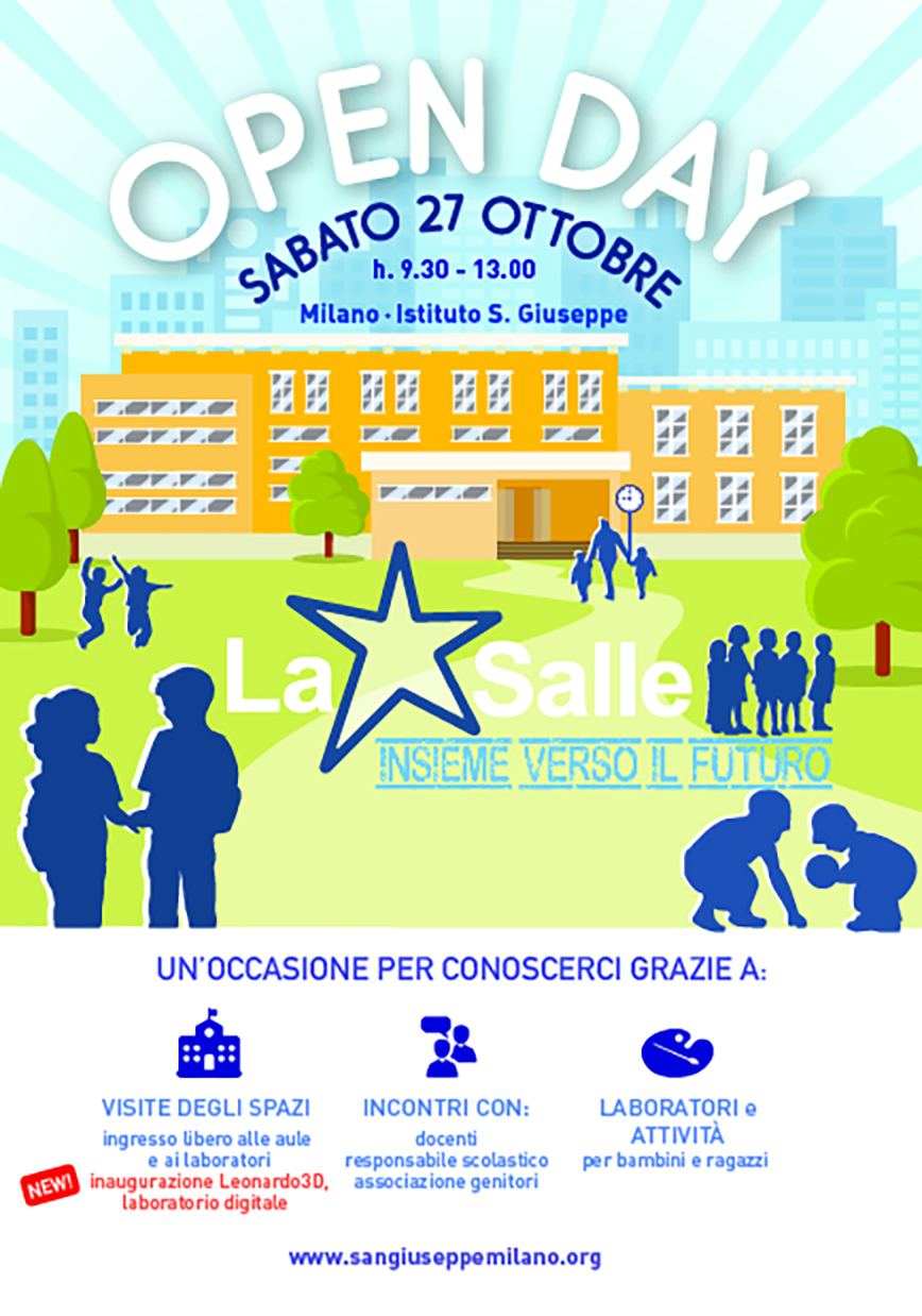 Istituto San Giuseppe La Salle Milano Open Day 2018-2019