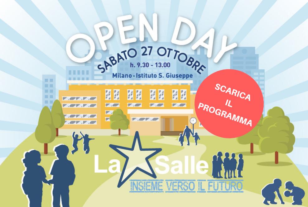 Istituto San Giuseppe La Salle Milano Programma Open Day 2018-2019