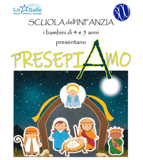Istituto San Giuseppe La Salle Milano Scuola Infanzia Concerto di Natale 2018 Locandina