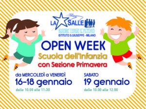Scuola dell'Infanzia - OPEN WEEK della Scuola dell'Infanzia e della Sezione Primavera