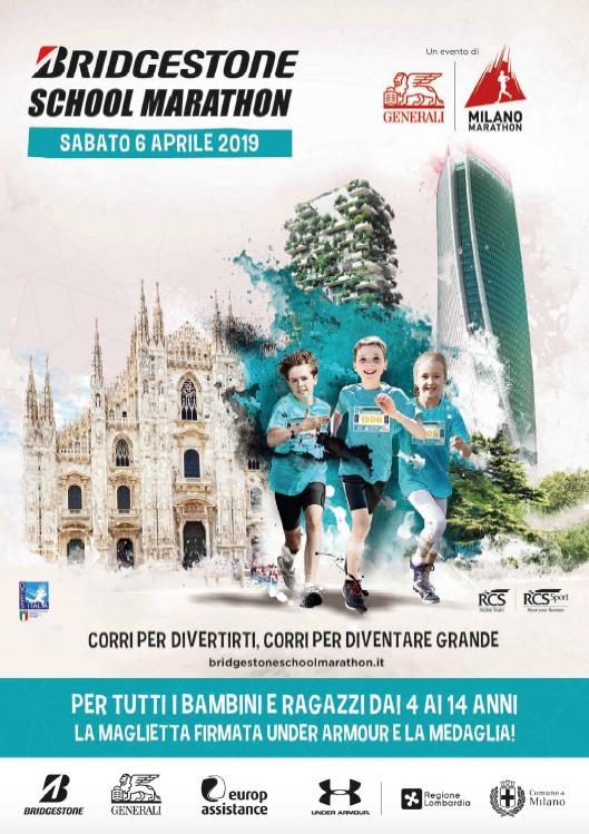 Istituto San Giuseppe La Salle Mila no Associazione Genitori Milano School Marathon 2019_Volantino