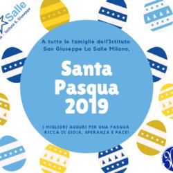 Istituto San Giuseppe La Salle Milano Santa Pasqua 2019 Auguri_Head