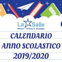 Istituto San Giuseppe La Salle Milano Calendario anno scolastico 2019-2020_Head