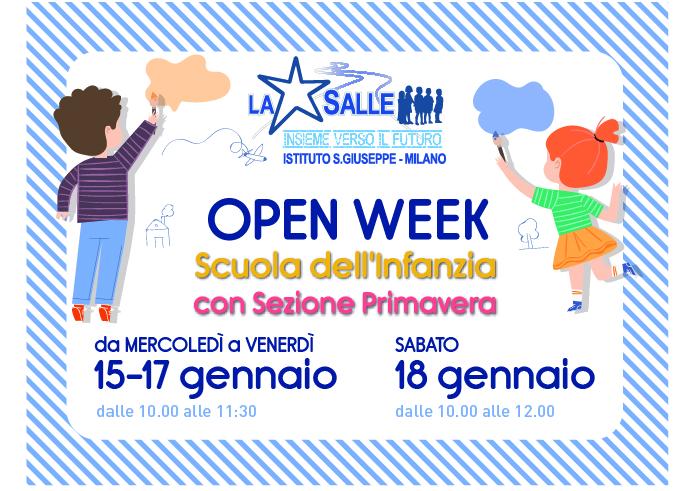 Istituto San Giuseppe La Salle Milano Scuola dell'Infanzia con Sezione Primavera Open Week 2020 News