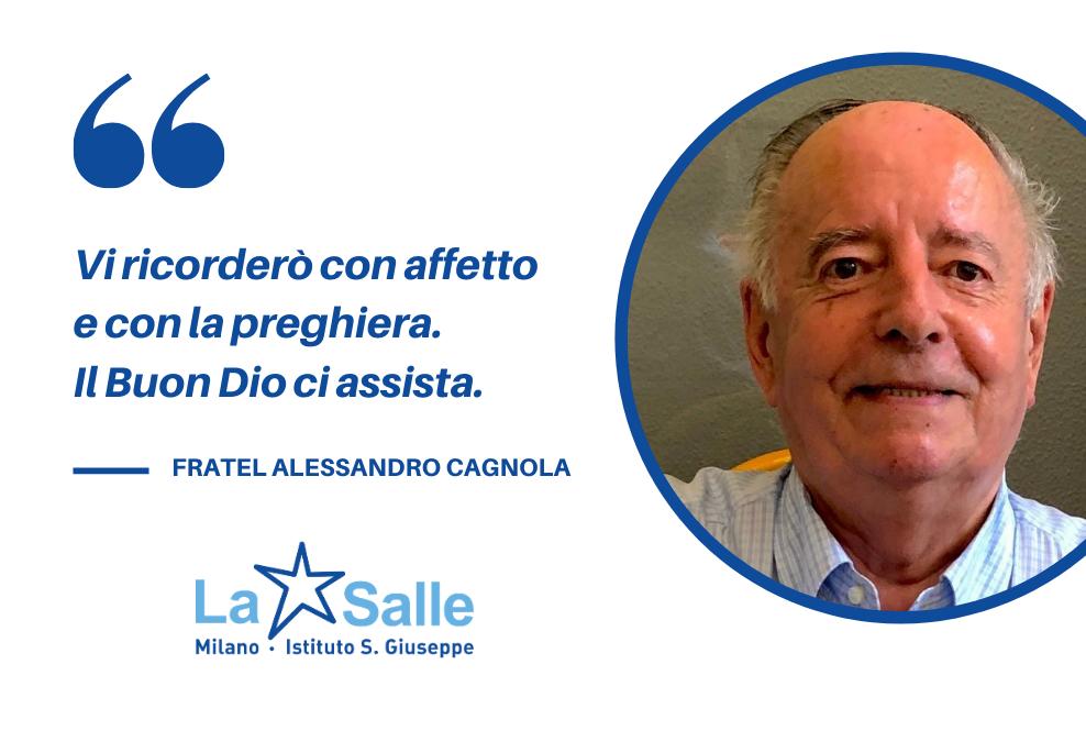 Istituto San Giuseppe La Salle Milano Avvicendamento direttore comunità Saluto Fratel Alessandro