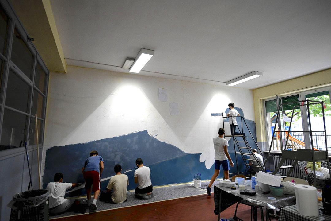 Istituto San Giuseppe La Salle milano Scuola Secondaria Un murale per L'Ambiente #AmbienteaScuola_11