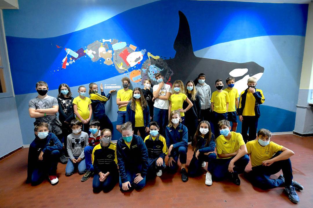 Istituto San Giuseppe La Salle milano Scuola Secondaria Un murale per L'Ambiente #AmbienteaScuola_24
