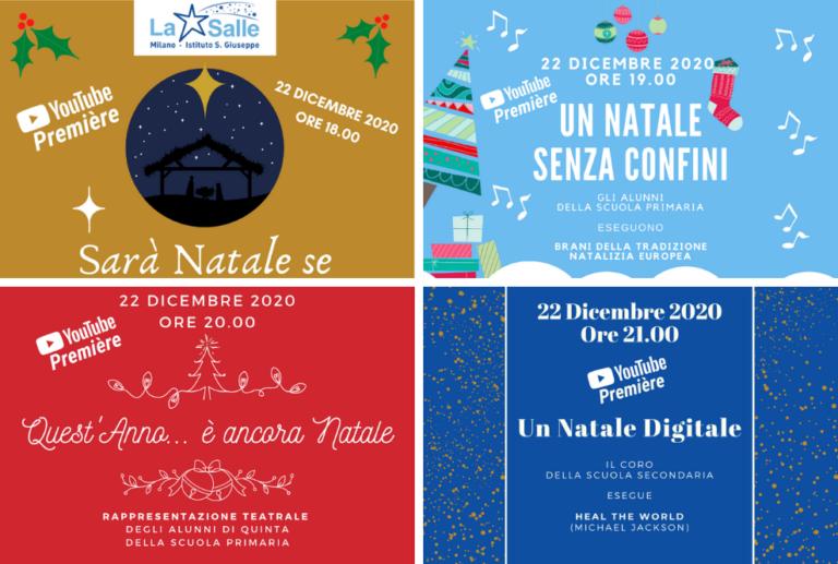 Istituto San Giuseppe La Salle Milano Collage Locandine Natale 2020