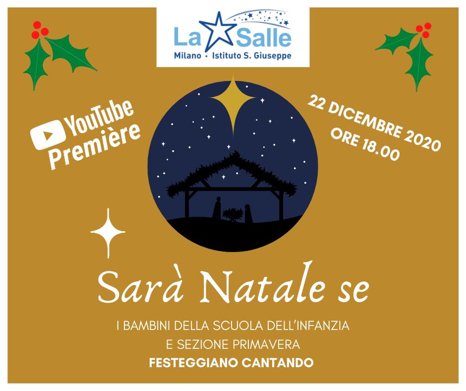 Istituto San Giuseppe La Salle MilanoLocandina Sarà Natale se