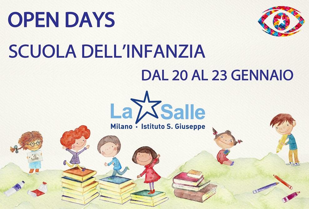 Open Days 2021 Scuola dell'Infanzia Istituto San Giuseppe La Salle Milano 988X665