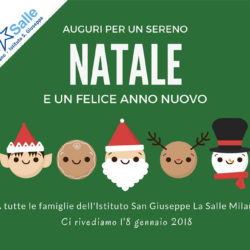 Istituto San Giuseppe La Salle Milano Biglietto Auguri Natale 2017_Head
