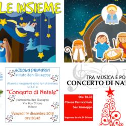 Istituto San Giuseppe La Salle Milano Natale 2018 Locandine Feste