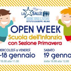 Istituto San Giuseppe La Salle Milano Open Week Scuola dell'Infanzia 2018-2019_News_Head