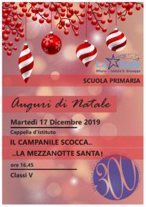 Istituto San Giuseppe La Salle Milano Scuola Primaria Classi 5 Natale 2019 Auguri Feste
