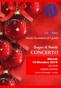Istituto San Giuseppe La Salle Milano Scuola Secondaria Natale 2019 Concerto di Natale