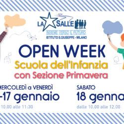Istituto San Giuseppe La Salle Milano Scuola dell'Infanzia con Sezione Primavera Open Week 2020 News Head