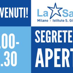 Istituto San Giuseppe La Salle Milano Apertura Estiva 2020 Segreteria