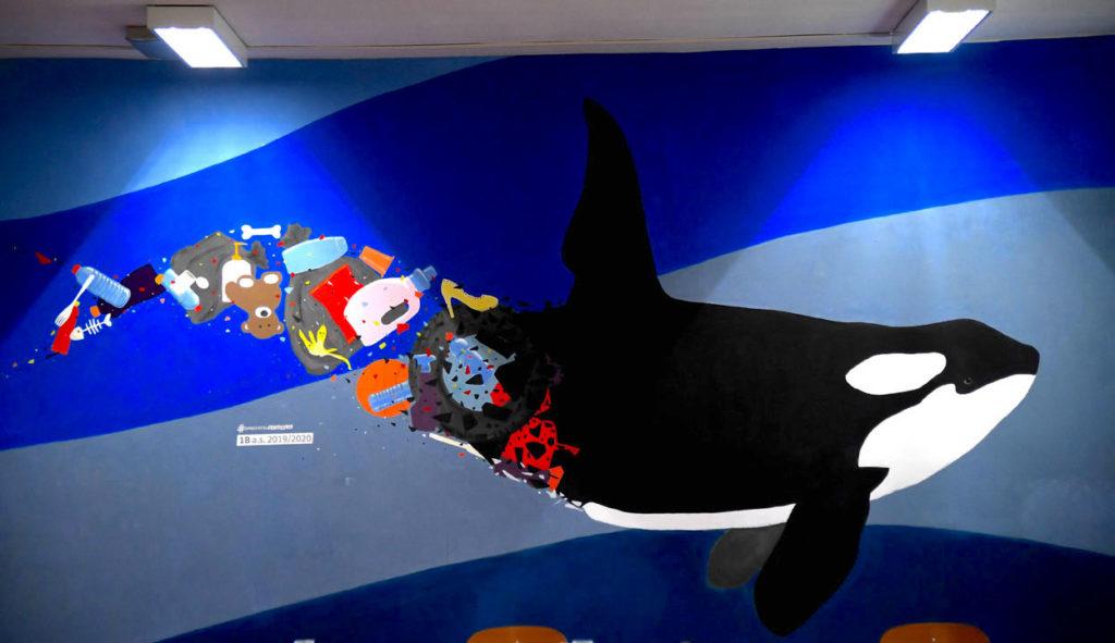 Istituto San Giuseppe La Salle milano Scuola Secondaria Un murale per L'Ambiente #AmbienteaScuola_1