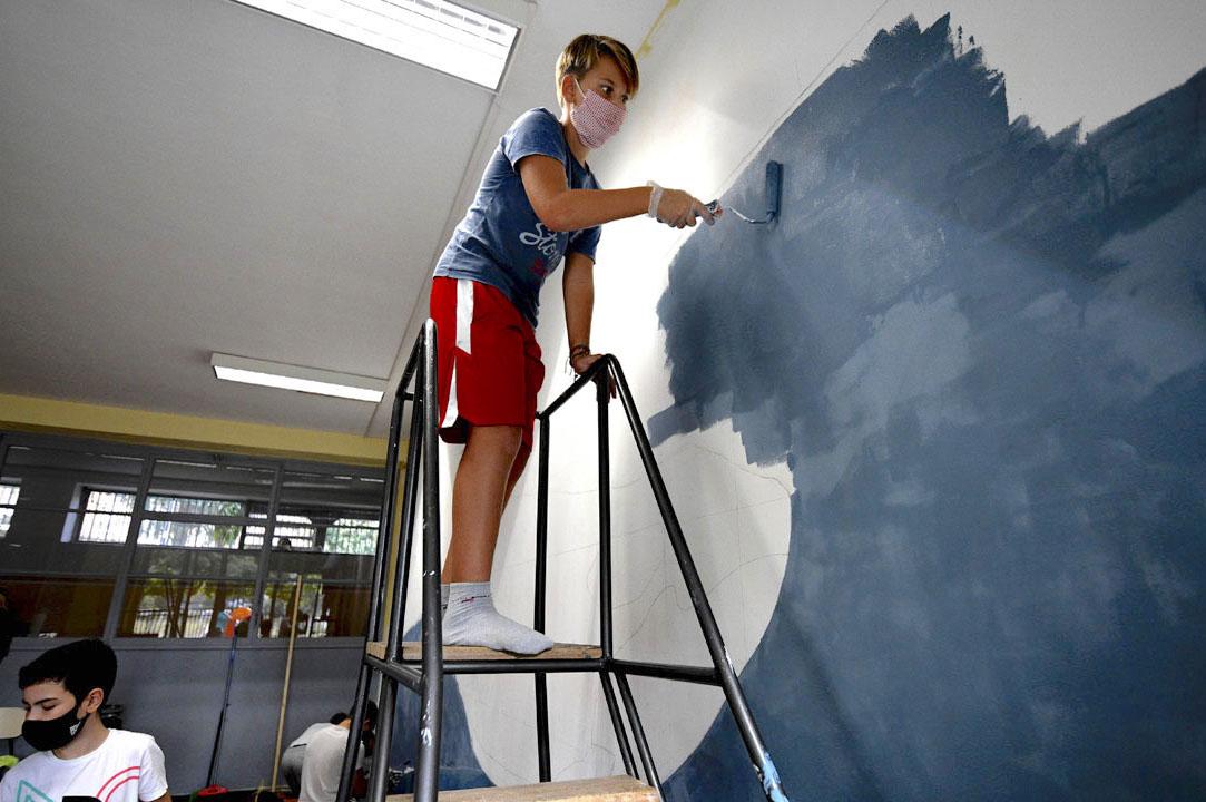 Istituto San Giuseppe La Salle milano Scuola Secondaria Un murale per L'Ambiente #AmbienteaScuola_10