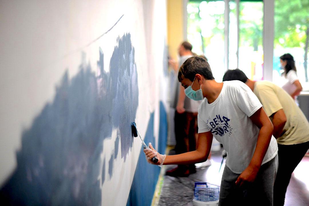 Istituto San Giuseppe La Salle milano Scuola Secondaria Un murale per L'Ambiente #AmbienteaScuola_12