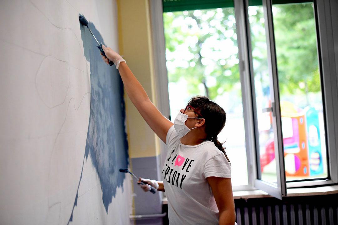 Istituto San Giuseppe La Salle milano Scuola Secondaria Un murale per L'Ambiente #AmbienteaScuola_13