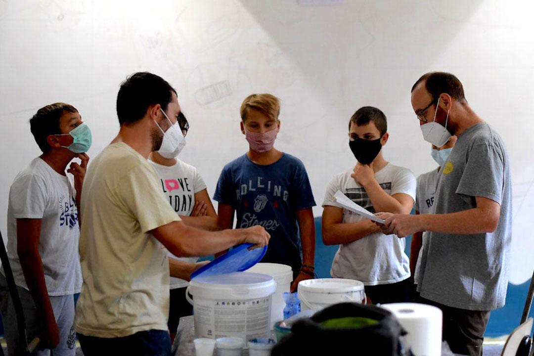 Istituto San Giuseppe La Salle milano Scuola Secondaria Un murale per L'Ambiente #AmbienteaScuola_2
