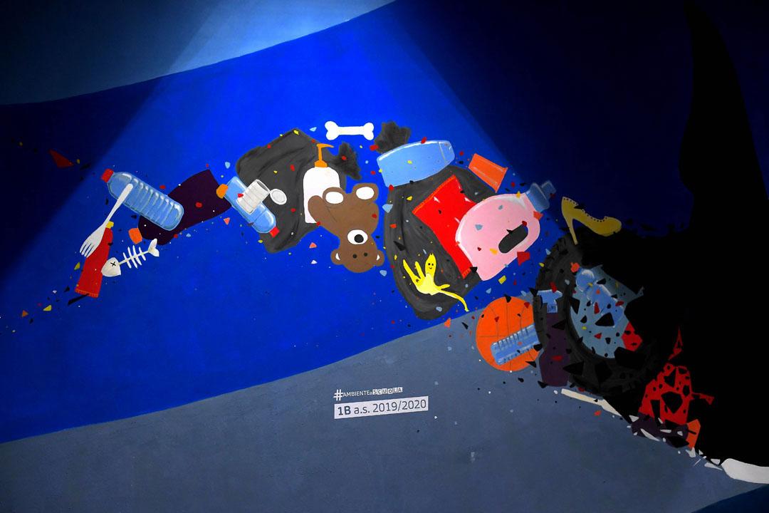 Istituto San Giuseppe La Salle milano Scuola Secondaria Un murale per L'Ambiente #AmbienteaScuola_21