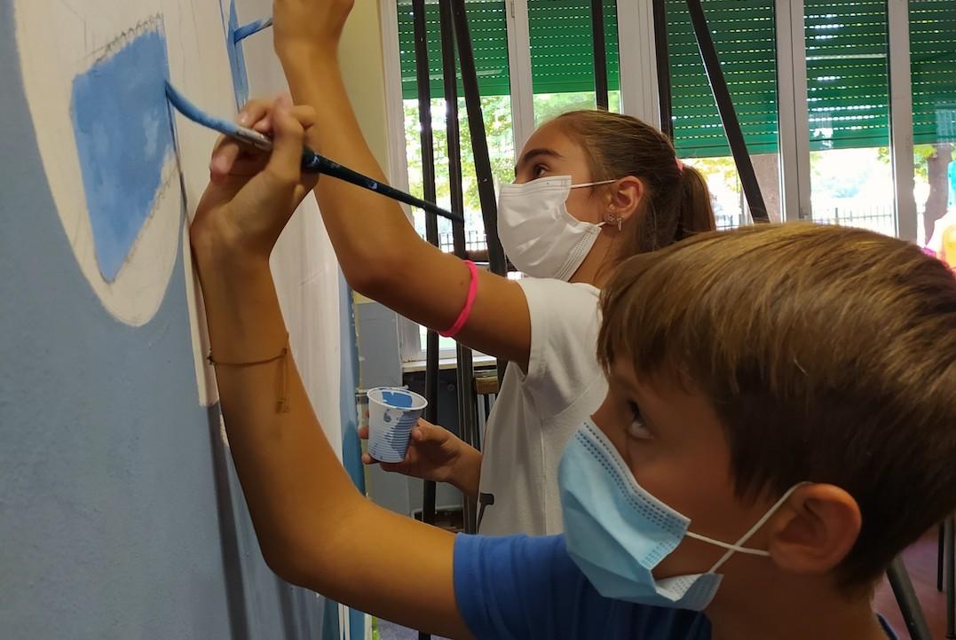 Istituto San Giuseppe La Salle milano Scuola Secondaria Un murale per L'Ambiente #AmbienteaScuola_28
