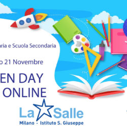 Istituto San Giuseppe La Salle Milano Open Day 2020 ONLINE Evidenza News