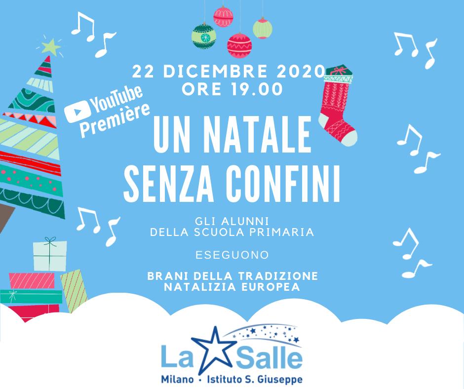 Istituto San Giuseppe La Salle Milano Locandina Natale Senza Confini